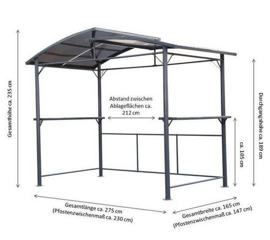 Leco Profi Grillpavillon XXL (2,75mx1,65m) für 435,94€ (statt 550€)