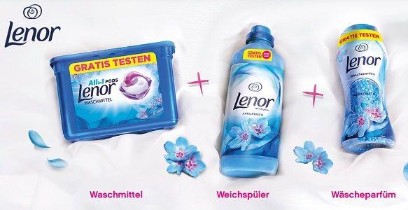 Waschmittel, Weichspüler und/oder Wäscheparfüm von Lenor gratis ausprobieren