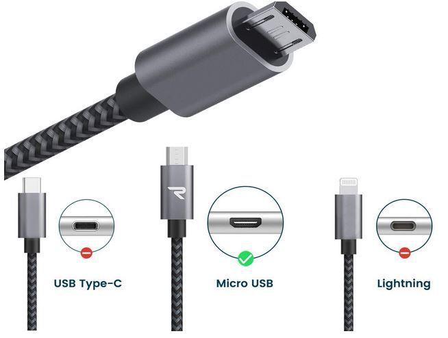 RAMPOW Micro USB Ladekabel 2 x 1M mit Nylon geflochten Schnellladekabel für 4,31€ (statt 7€)