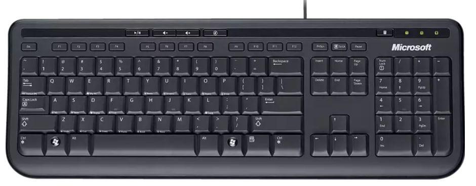 microsoft wired Keyboard 600   deutsche Tastatur für 8,99€ (statt 16€)