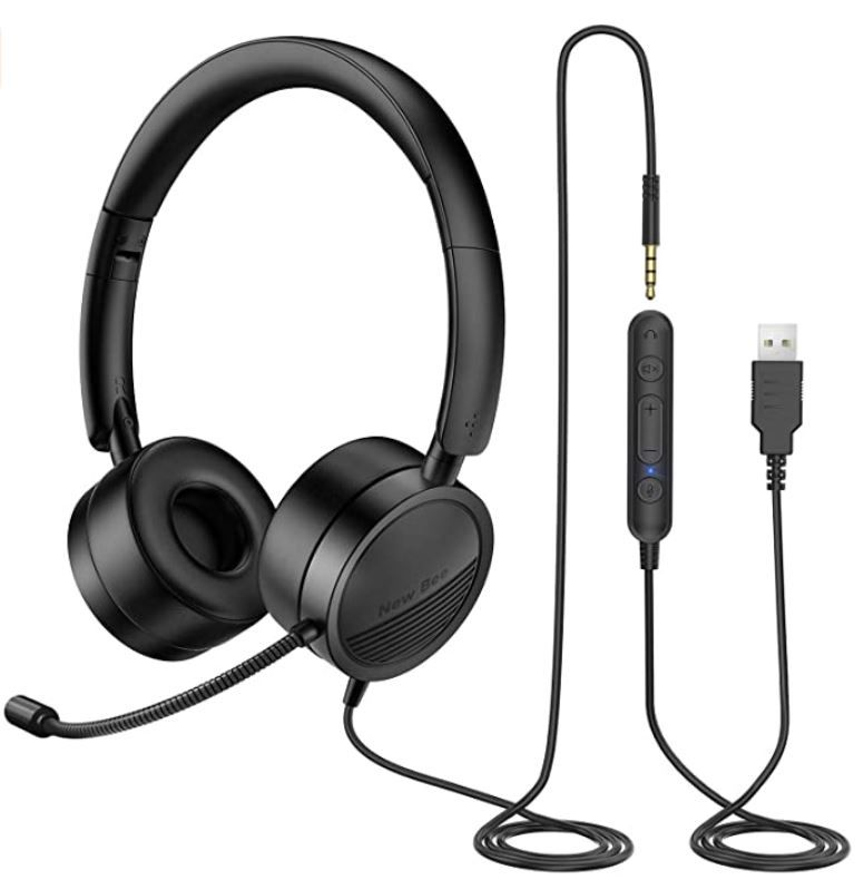 New Bee PC On Ear Headset mit Mikrofon (PC & Android) für 17,99€ (statt 30€)