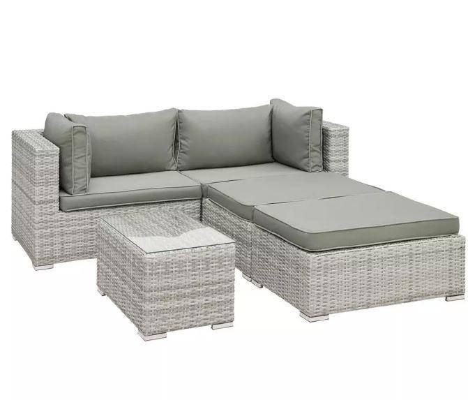 modernliving Parga 13 teilige Lounge Garnitur mit Tisch ab 349,30€ (statt 499€)