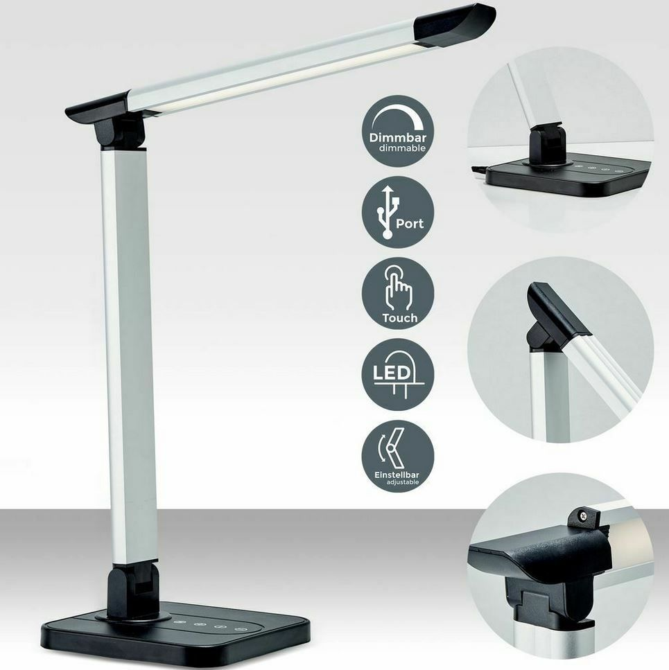 B.K.Licht LED Schreibtischlampe mit USB Anschluss für 16,99€ (statt 25€)