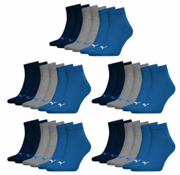 PUMA Unisex bunte Quarter Socken im 15er Pack für 29,59€ (statt 35€)