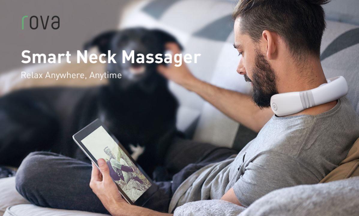 Rova Nackenmassagegerät mit Wärmefunktion für 30,09€ (statt 43€)