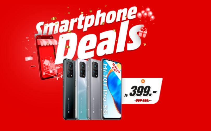 MediaMarkt & Saturn Smartphone Fieber – z.B. XIAOMI Mi 10 T Pro 5G 128GB für 389€ (statt 442€)