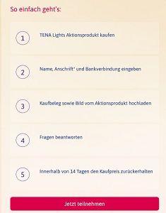 TENA Lights kostenlos ausprobieren