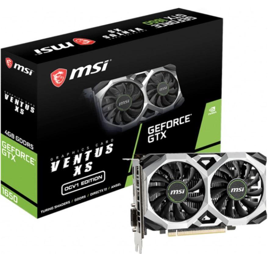 MSI GeForce GTX 1650 Ventus XS OCV1 für 255,90€ (statt 319€)