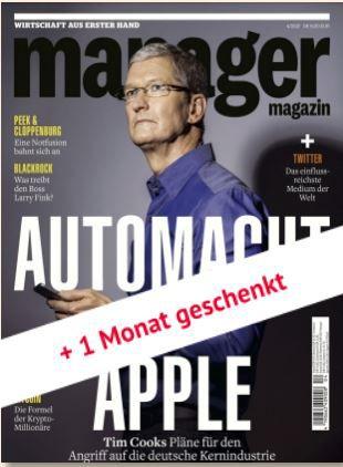 13 Ausgaben Manager Magazin für 108€ + 75€ Amazon Gutschein
