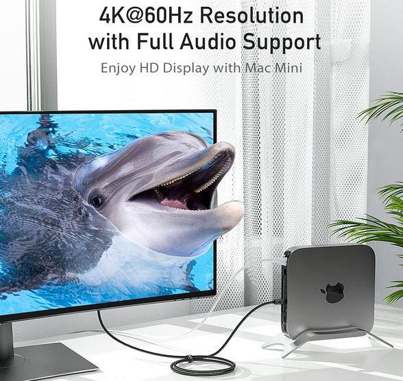 UNICDP01 USB C zu DisplayPort Kabel 1,8m für 6,87€ (statt 16€)   prime