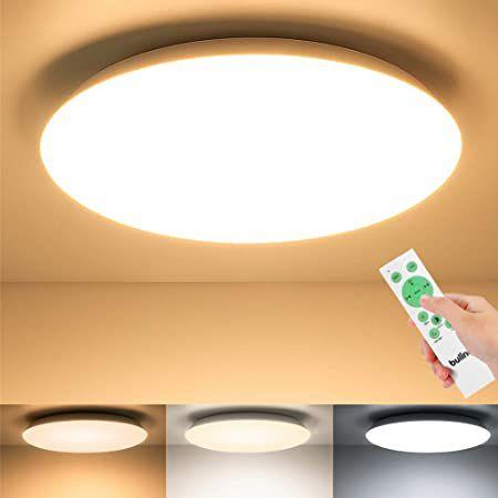 BULING LED Deckenleuchte (24W) in Warmweiß inkl. Fernbedienung für 19,43€ (statt 32€)