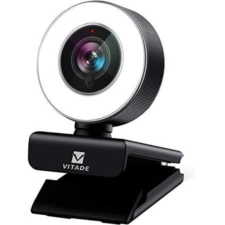 Vitade 960A Pro – 1080p Webcam mit Ringlicht für 27,59€ (statt 56€)