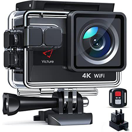 Victure AC820 – 4K 50fps ActionCam mit viel Zubehör für 49,99€ (statt 100€)
