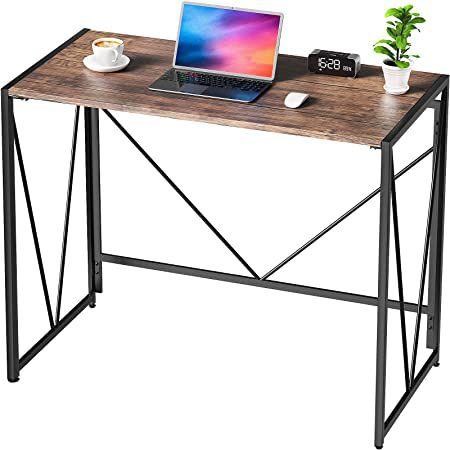 Schreibtisch im Industriedesign mit stabilem Metallrahmen (100 x 50 x 75 cm) für 41,99€ (statt 70€)