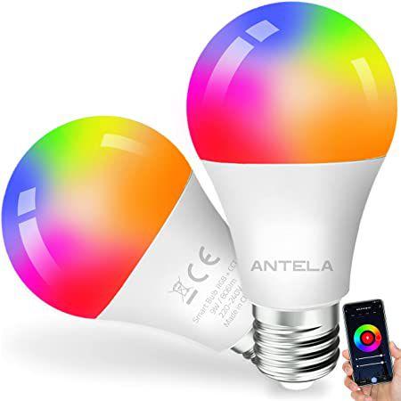 2er Pack: ANTELA 9W WLAN Glühbirne (RGBCW) für 9,99€ (statt 16€) – Prime