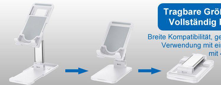 Hapfish Handy  Tabletständer für bis zu 12,9 Zoll für 5,99€   Prime