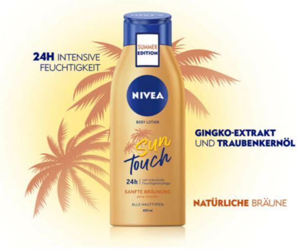 Doppelpack: Nivea Sun Touch Body Lotion mit Bräunungswirkstoff für 12,79€ (statt 16€)