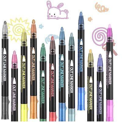 Pecosso Umrissstifte 12 Farben z.B. zum Zeichnen für nur 5,99€(statt 12€)