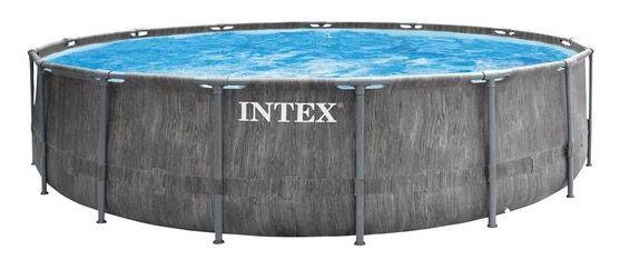 Intex Prism Greywood Pool mit 457x122cm inkl. Leiter und Filteranlage für 429,99€ (statt 629€)