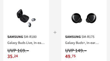 Preisfehler? Samsung Galaxy Buds Live und Galaxy Buds Plus für 84,99€ (statt 162€)