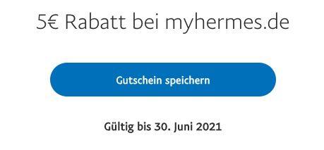 PayPal: 5€ myHermes Gutschein   mindestens S Paket kostenlos verschicken