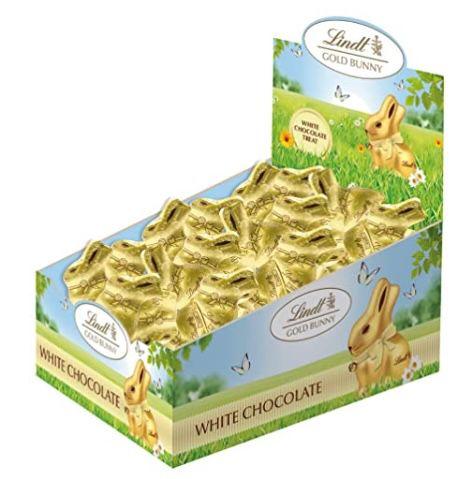 100er Pack Lindt Mini Goldhasen aus weißer Schokolade (je ca. 10g) für 17,99€ (statt 26€)