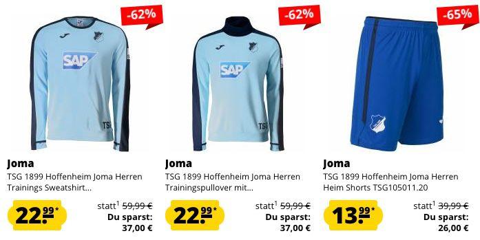 TSG 1899 Hoffenheim Sale   z.B. Kapuzenjacke in Restgrößen nur 23,99€ (statt 55€)