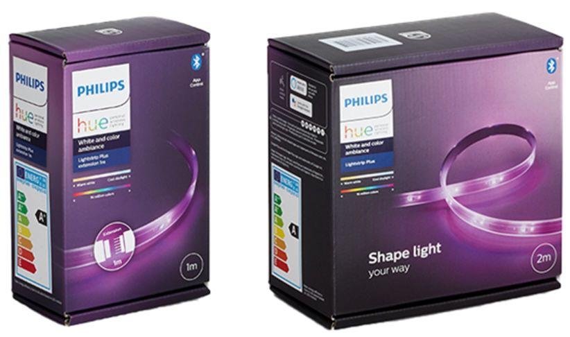 Philips Hue LightStrip Plus 2m Basis + 1m Erweiterung für 72,39€ (statt 87€)