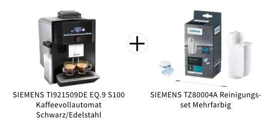 Siemens TI921509DE EQ.9 S100 Kaffeevollautomat inkl. Reinigungs Set für 839€ (statt 924€)
