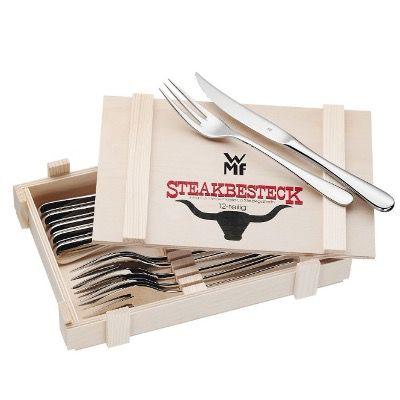 WMF Steakbesteck – 12-teilig in Holzkiste für 25€ (statt 33€)