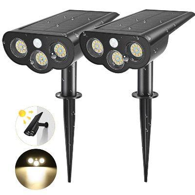 2er Pack AMBOTHER Solarleuchten mit je 33 LEDs mit Bewegungsmelder IP67 für 14,39€ (statt 24€)