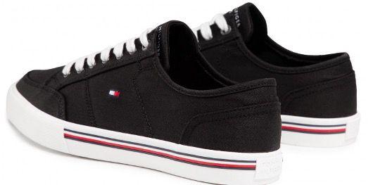 Tommy Hilfiger Core Corporte Textile Sneaker in Schwarz für 41,95€ (stat 52€)
