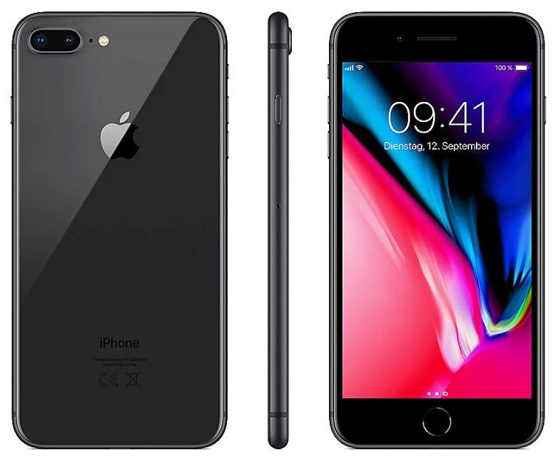 Apple iPhone 8 Plus mit 128GB in Space Grey für 464€ (statt 532€)