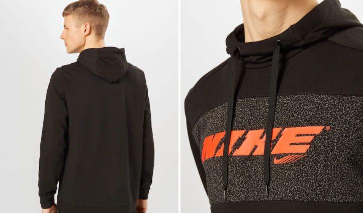 Nike Hoodie Dri FIT Sport Clash in Schwarz für 22,45€ (statt 44€)