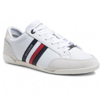 Tommy Hilfiger Corporate Material Mix Cupsole Sneaker in Weiß für 55,75€ (statt 69€)