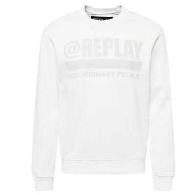 Replay Herren-Sweatshirt in Weiß für 42,45€ (statt 100€)