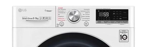 🔥 LG V7WD906A Waschtrockner (9 kg/6 kg, 1370 U/Min) für 538,90€ (statt 786€)