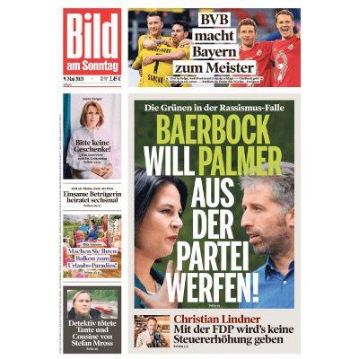 24 Ausgaben BILD am Sonntag für 63,70€   Prämie: 60€ Scheck