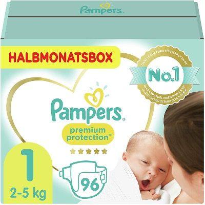 Pampers-Deals durch Sparabo und Klick-Coupon – z.B. Pampers Premium Protection 96 Stück Größe 1 für 10,12€ (statt 21€)