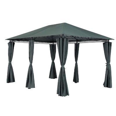 Gartenpavillon Rieke mit 6 Seitenteilen in Anthrazit 300x270x400cm für 149,99€ (statt 200€)