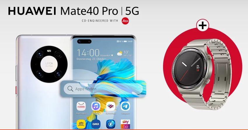 🔥 HUAWEI P40 Pro + Watch GT2 Porsche Design für 49,99€ mit O2 Allnet Flat inkl. 2GB LTE50 für 27,99€ mtl.