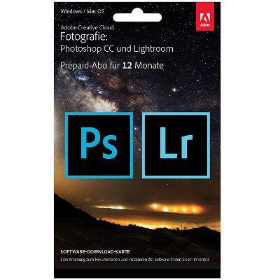 Adobe Creative Cloud Foto-Abo inkl. Photoshop und Lightroom Jahreslizenz für 94,99€ (statt 147€)