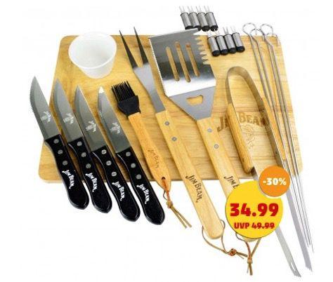 Jim Beam BBQ Grillbesteck 22 Teile für 39,94€ (statt 58€)