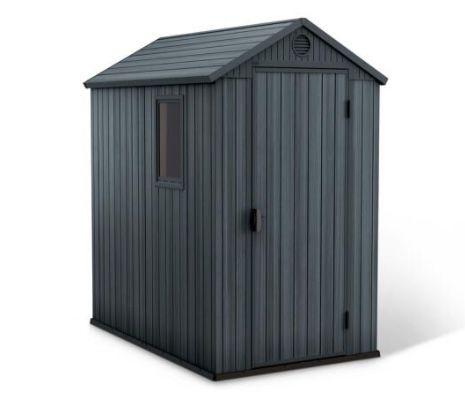 Keter Gerätehaus Darwin 6×4 in Grau/Anthrazit ab 349,99€ (statt 449€)