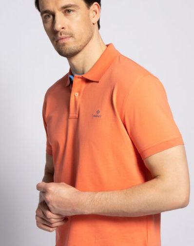 Gant Poloshirt Contrast Pique in Koralle oder Orange für je 30,56€ (statt 50€)   nur M & L