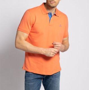 Gant Poloshirt Contrast Pique in Koralle oder Orange für je 30,56€ (statt 50€) – nur M & L