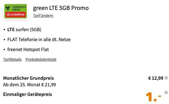 LG Velvet 4G Dual SIM 128GB für 1€ mit Vodafone Allnet Flat inkl. 5GB LTE für 12,99€ mtl.
