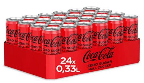 24er Pack Coca Cola Zero Sugar Dose (330ml) ab 9,22€   auch andere Sorten