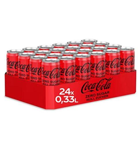 24er Pack Coca-Cola Zero Sugar Dose (330ml) ab 9,22€ – auch andere Sorten