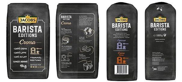 5x 1kg Kaffeebohnen Jacobs Barista Editions Crema für 35,66€ (statt 52€)   Sparabo